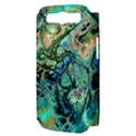 Fractal Batik Art Teal Turquoise Salmon Samsung Galaxy S III Hardshell Case (PC+Silicone) View3