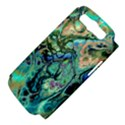 Fractal Batik Art Teal Turquoise Salmon Samsung Galaxy S III Hardshell Case (PC+Silicone) View4