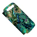 Fractal Batik Art Teal Turquoise Salmon Samsung Galaxy S III Hardshell Case (PC+Silicone) View5