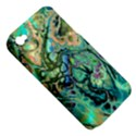 Fractal Batik Art Teal Turquoise Salmon Apple iPhone 4/4S Hardshell Case (PC+Silicone) View5