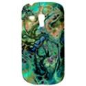 Fractal Batik Art Teal Turquoise Salmon Samsung Galaxy S3 MINI I8190 Hardshell Case View3