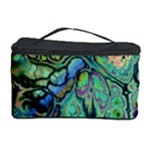 Fractal Batik Art Teal Turquoise Salmon Cosmetic Storage Case