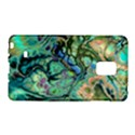 Fractal Batik Art Teal Turquoise Salmon Galaxy Note Edge View1