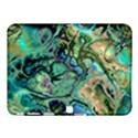 Fractal Batik Art Teal Turquoise Salmon Samsung Galaxy Tab 4 (10.1 ) Hardshell Case  View1