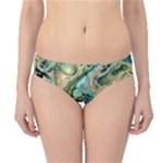 Fractal Batik Art Teal Turquoise Salmon Hipster Bikini Bottoms