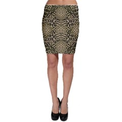 Brown Reptile Bodycon Skirt