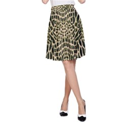 Brown Reptile A Line Skirt
