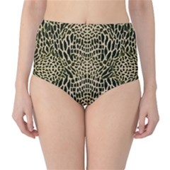 Brown Reptile High Waist Bikini Bottoms