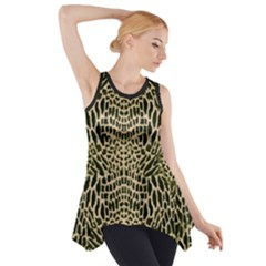 Brown Reptile Side Drop Tank Tunic