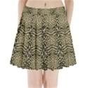 BROWN REPTILE Pleated Mini Skirt View1