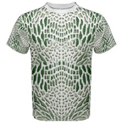 Green Snake Texture Men s Cotton Tee