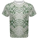 GREEN SNAKE TEXTURE Men s Cotton Tee View1