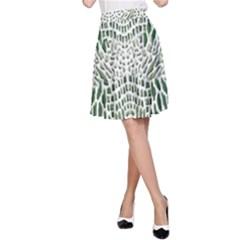 Green Snake Texture A Line Skirt