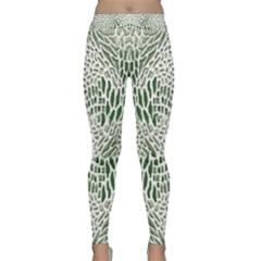 Green Snake Texture Yoga Leggings