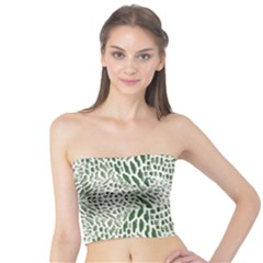 Green Snake Texture Tube Top