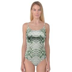 Green Snake Texture Camisole Leotard  by LetsDanceHaveFun