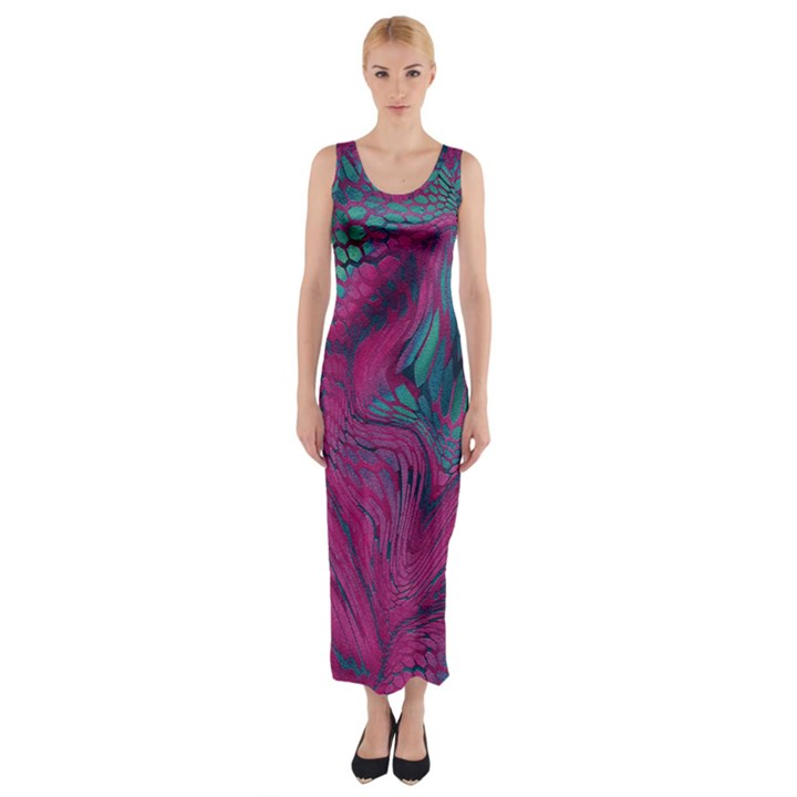 ASIA DRAGON Fitted Maxi Dress