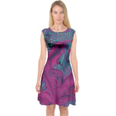 Asia Dragon Capsleeve Midi Dress