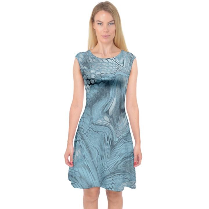 FROST DRAGON Capsleeve Midi Dress