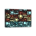 Block On Block, Aqua Mini Canvas 6  x 4  View1
