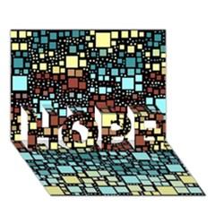 Block On Block, Aqua HOPE 3D Greeting Card (7x5)