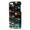 Block On Block, Aqua Apple iPhone 5 Premium Hardshell Case View3