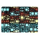 Block On Block, Aqua Samsung Galaxy Tab 10.1  P7500 Flip Case View1