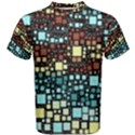 Block On Block, Aqua Men s Cotton Tee View1