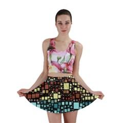 Block On Block, Aqua Mini Skirt