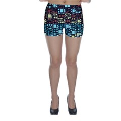 Block On Block, Aqua Skinny Shorts