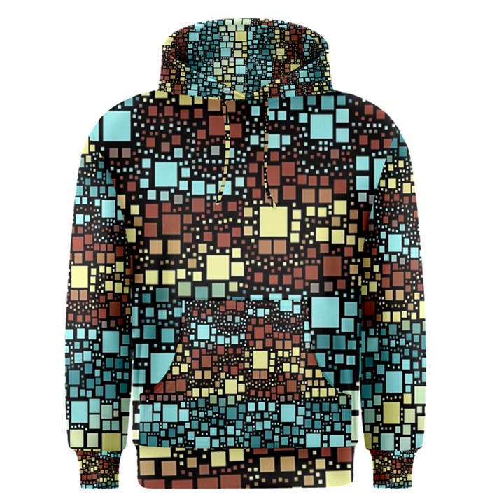 Block On Block, Aqua Men s Pullover Hoodie