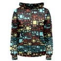 Block On Block, Aqua Women s Pullover Hoodie View1