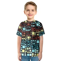 Block On Block, Aqua Kids  Sport Mesh Tee
