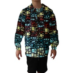Block On Block, Aqua Hooded Wind Breaker (kids)