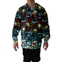 Block On Block, Aqua Hooded Wind Breaker (Kids) View1