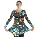 Block On Block, Aqua Long Sleeve Tunic  View1