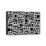 Block On Block, B&w Mini Canvas 6  x 4