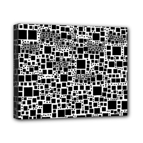 Block On Block, B&w Canvas 10  X 8  by MoreColorsinLife