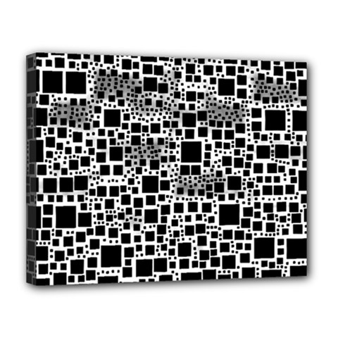 Block On Block, B&w Canvas 14  X 11  by MoreColorsinLife