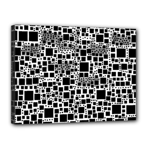 Block On Block, B&w Canvas 16  X 12  by MoreColorsinLife