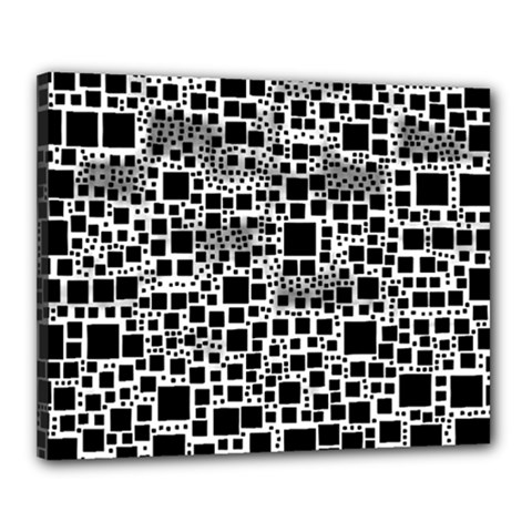 Block On Block, B&w Canvas 20  X 16  by MoreColorsinLife