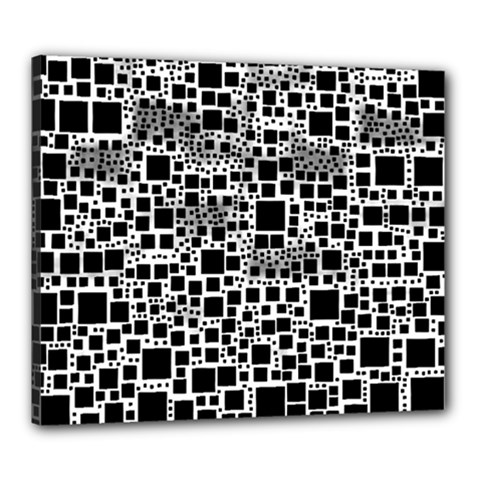Block On Block, B&w Canvas 24  X 20  by MoreColorsinLife