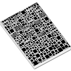 Block On Block, B&w Large Memo Pads by MoreColorsinLife