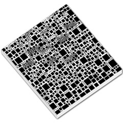 Block On Block, B&w Small Memo Pads by MoreColorsinLife