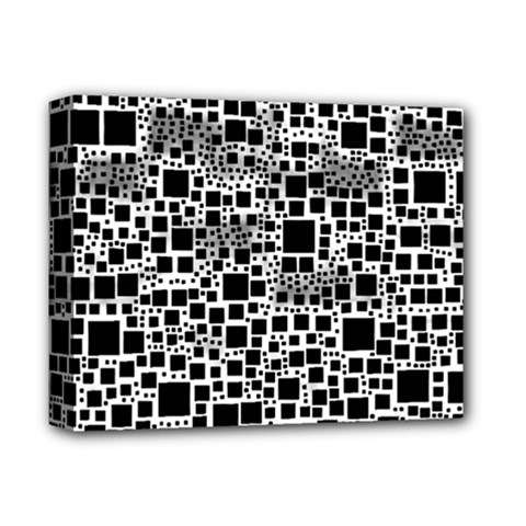 Block On Block, B&w Deluxe Canvas 14  X 11  by MoreColorsinLife