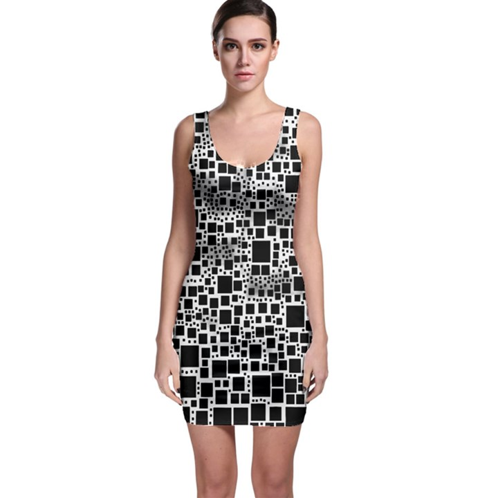 Block On Block, B&w Sleeveless Bodycon Dress