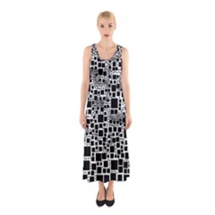 Block On Block, B&w Sleeveless Maxi Dress