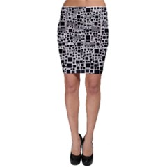 Block On Block, B&w Bodycon Skirt by MoreColorsinLife