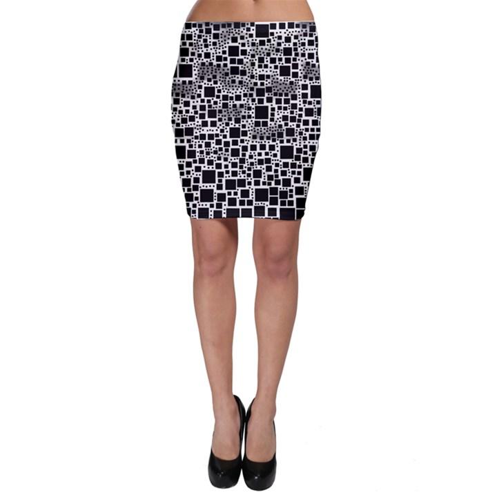 Block On Block, B&w Bodycon Skirt