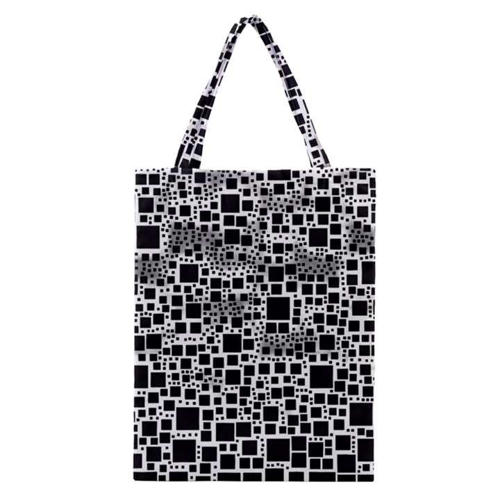 Block On Block, B&w Classic Tote Bag